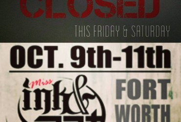 Closed this weekend.