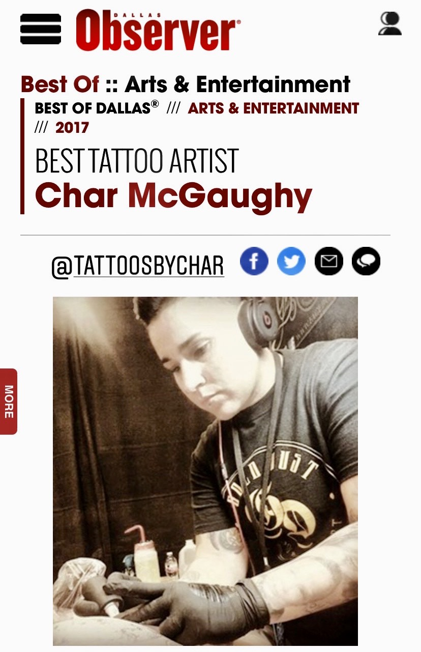 best tattoo artist, dallas, dallas observer