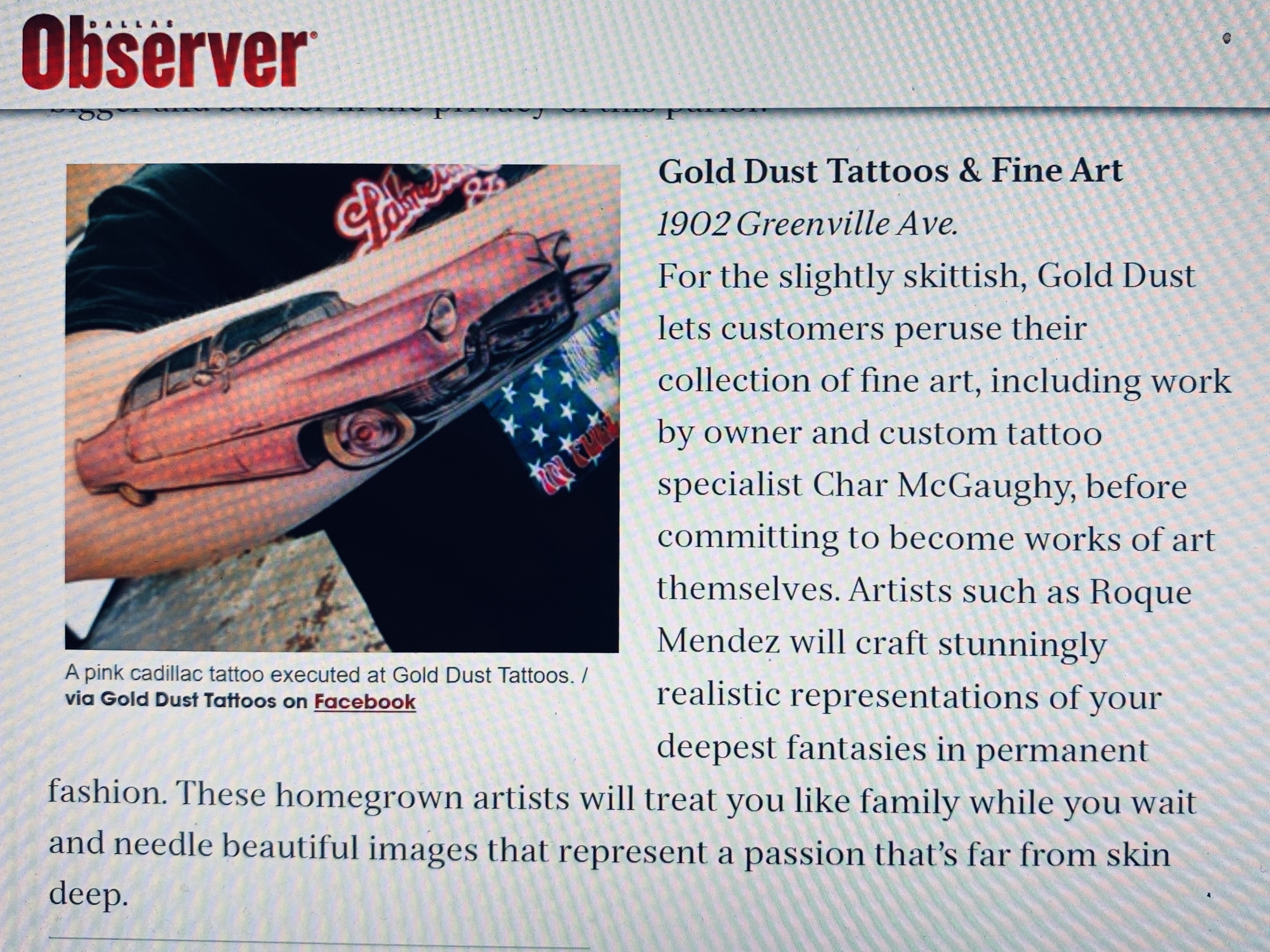 best tattoo shop dallas, best tattoo artist, dallas tattoo shop, gold dust tattoos